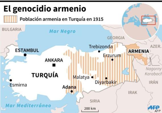 mapa armenios