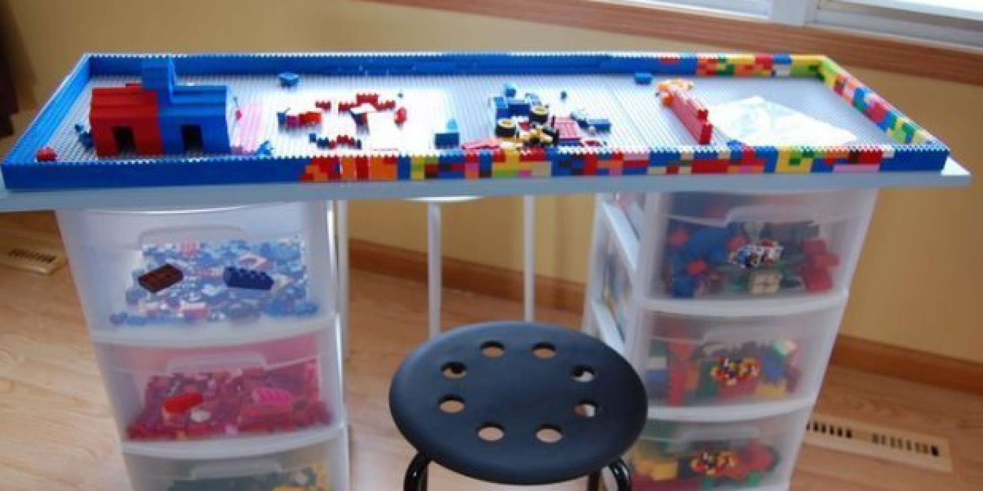 Sonic Bedroom Decor Lego Table 14 Diy Ideas For Your Kids Playroom