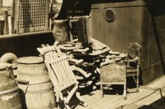 Salvaged items from Titanic pictured in 1912 | Pic: PA