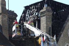 Firefighters fight blaze | Pic: PA