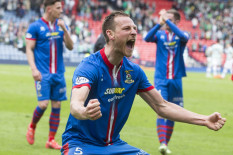 Inverness Caledonian Thistle players celebrate | Pic: PA