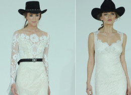 Claire Pettibone's Spring Wedding Dresses Take Us Back To The Wild West
