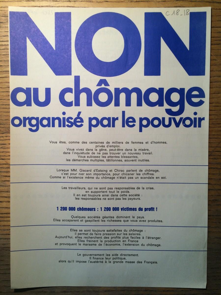 chomage non