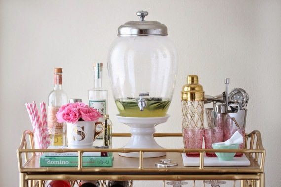 style it on your bar cart for a centerpiece that u2014 unlike fancy liquor bottles u2014 will last all night - How To Style A Bar Cart