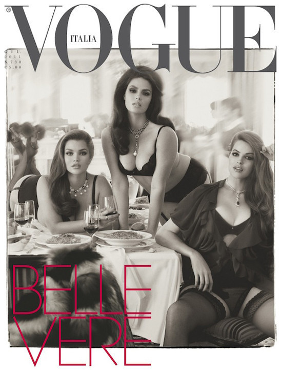 5dc055f65 Finding BonggaMom  Italian Vogue features plus-size models on the cover