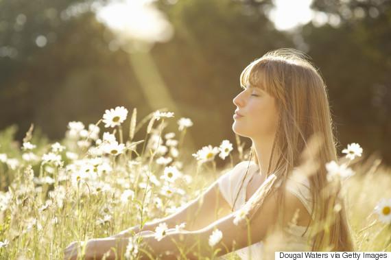 woman calm outdoors