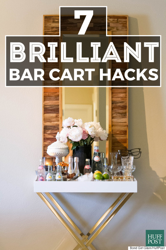 7 diy bar cart hacks that are cheaper than a round of drinks huffpost a diy bar cart is an easy home upgrade that keeps on giving whether youre trying to bring back the cocktail party or simply pre game a netflix marathon solutioingenieria Gallery