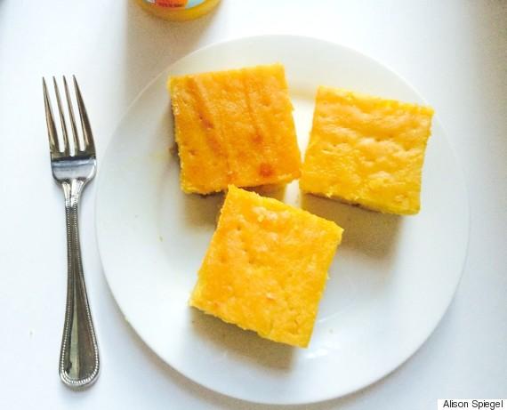 orange cake squares