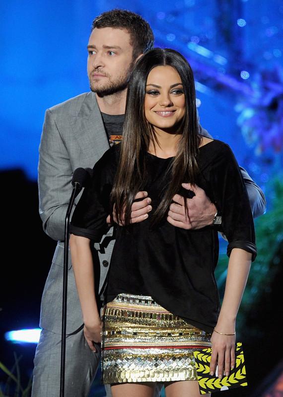 Justin Timberlake, Mila Kunis Grope Each Other At Mtv -7681