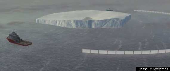 Tugboat Towing Iceberg
