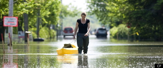 QUEBEC FLOOD ZONE HARPER VISIT