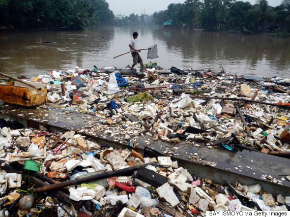 indonesia trash