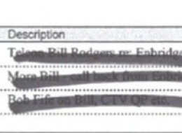 Mike Duffy's Badly Redacted Diary Suggests Illegal Enbridge Lobbying