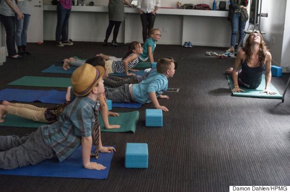yoga kids downward dog