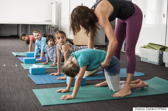 yoga kids cow pose