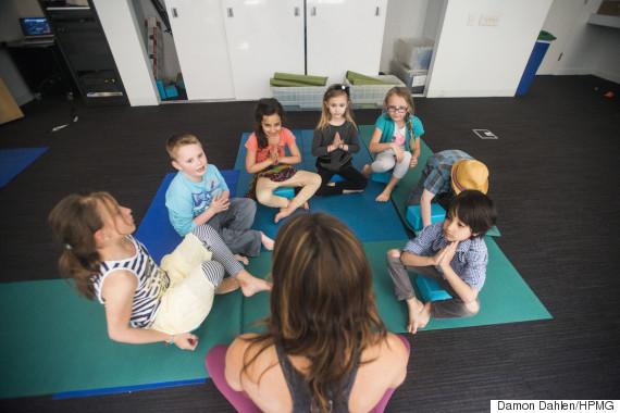 yoga kids reflection