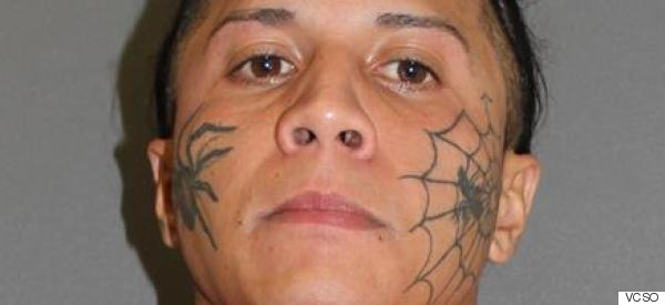 Man With Spider Face Tattoo Allegedly Stabs Neighbor