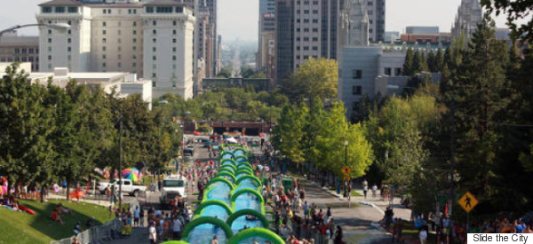There's A 1,000 Ft Water Slide Coming To A City Near You