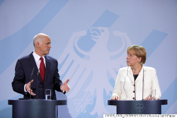 merkel papandreou