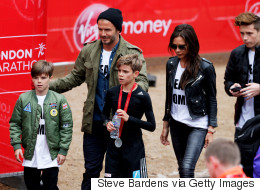Beckham Family Cheer On Romeo As He Completes Mini Marathon