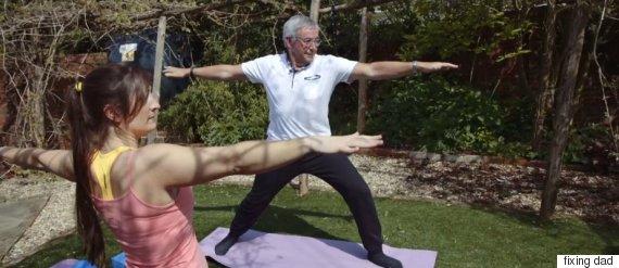 fixing dad yoga