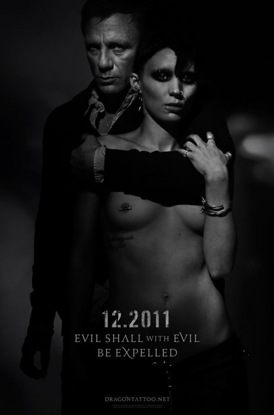 DRAGON TATTOO POSTER NSFW! Girl with the Dragon Tattoo Movie Poster