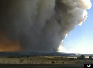 Arizona Wildfire Wallow Size June 2011