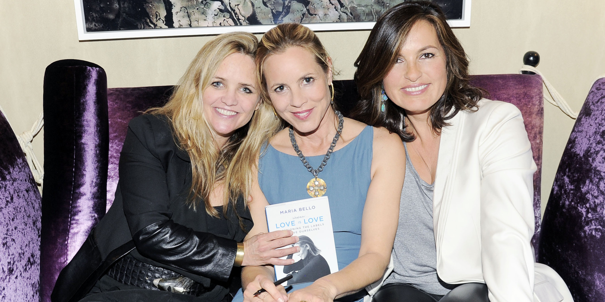 Maria Bello and partner