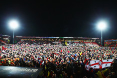 Pitch invasion at Dean Court | Pic: Getty