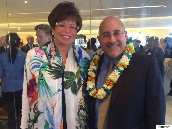 White House Senior Adviser Valerie Jarrett and Freedom to Marry Founder Evan Wolfson at the plaintiff reception.