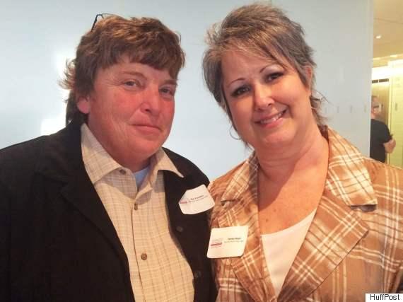 Kentucky plaintiffs Kim Franklin and Tammy Boyd.