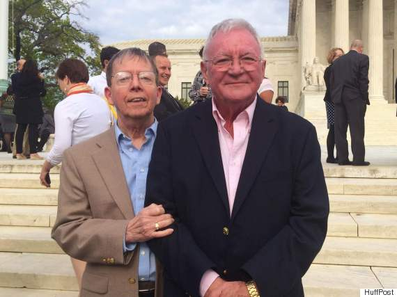 Kentucky plaintiffs Jimmy Meade and Luke Barlowe, who met in 1968 and have been married since 2009.