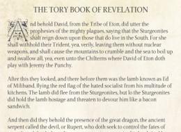 The Tory Book Of Revelation Explains Everything