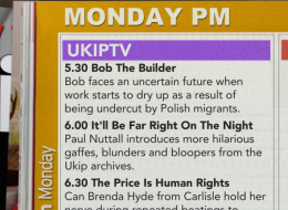 If UKIP Ran A TV Channel, It Might Look Like This...