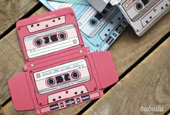 como hacer cassettes papel