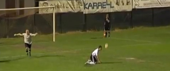 Goalkeeper Celebrates Too Early