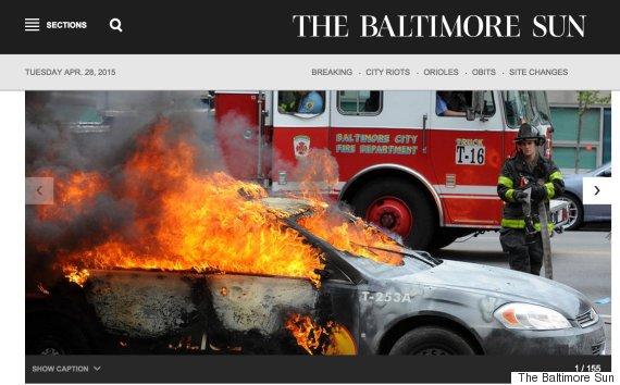 baltimore sun homepage