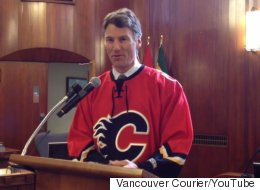 Vancouver Mayor Delivers On Calgary Playoff Bet