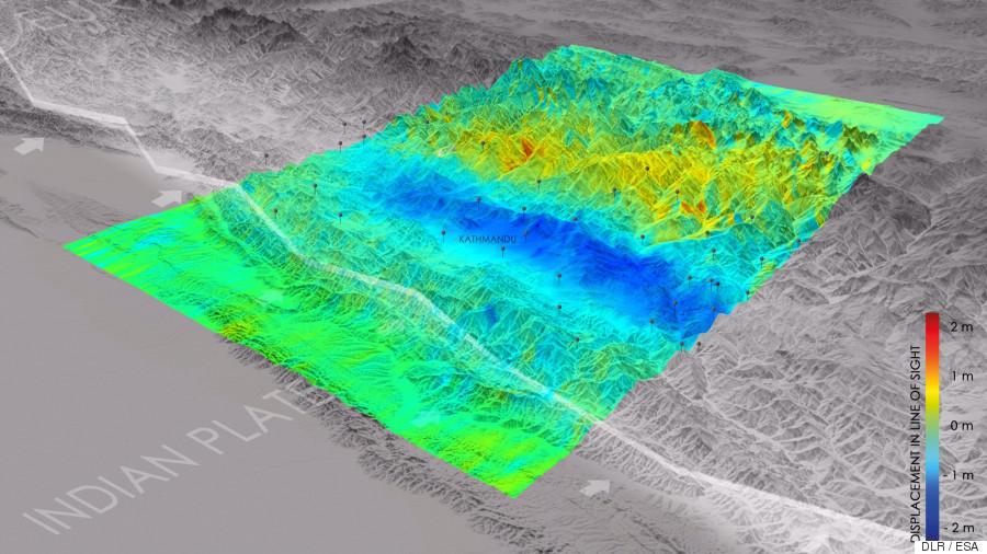 nepal earthquake everest shrinks