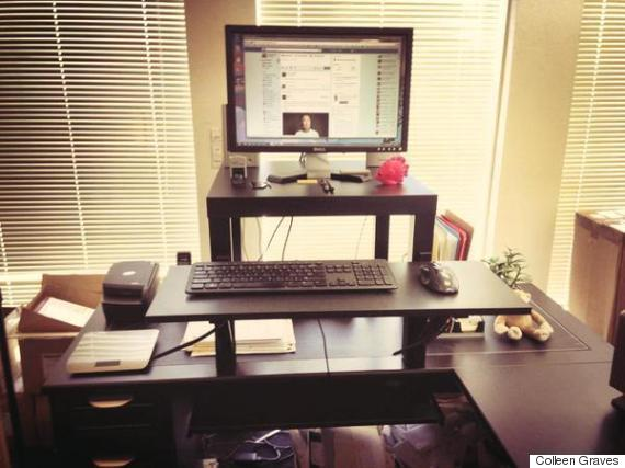 ikea standing desk hack