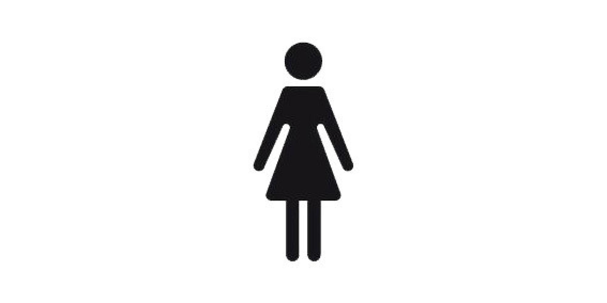 Si le logo des toilettes des femmes cachait en fait une super h ro ne - Bonhomme fille ...