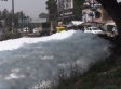 URINE TROUBLE: Disgusting Foam On Lake In India Caused By Pee