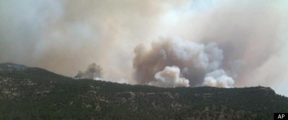RATON FIRE ENTERS COLORADO