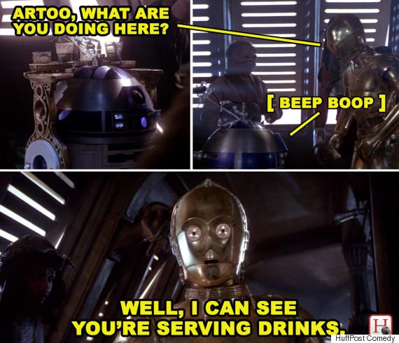 funniest scene in star wars