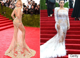 Beyoncé Manages To Reveal More Than Kim K At The Met Ball Gala