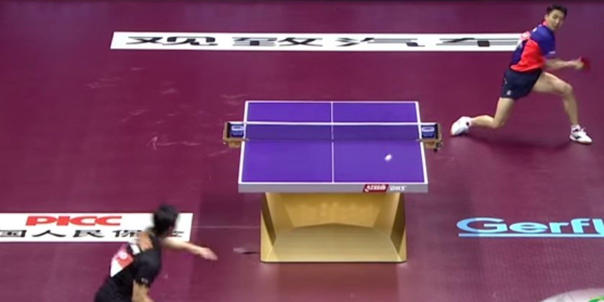 Vid O Tennis De Table L 39 Incroyable Point Du Si Cle En Finale Des Mondiaux De Ping Pong