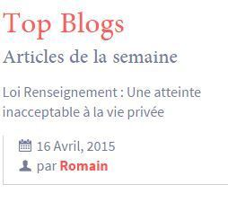 top blogs avril