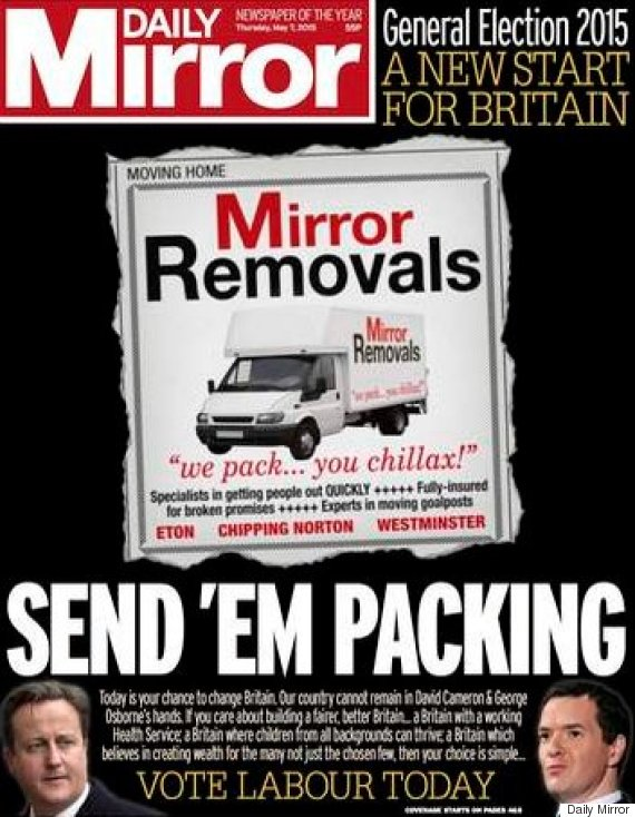 mirror election front page