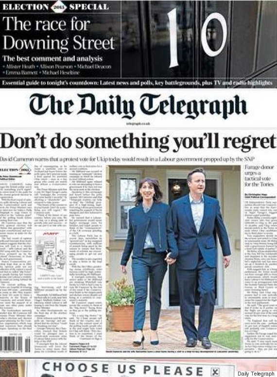 telegraph election front page