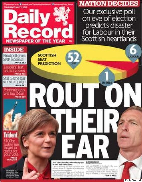record election front page